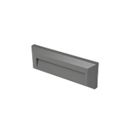 Robus Twilight 2W Led Rectangular Wall Light, IP65, Grey, 3000K (Grey)