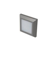 Robus Twilight 3W Led Square Wall Light, IP65, Grey, 3000K (Grey)
