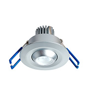 Robus 1 x 3W Non-maintained Adjustable Downlight (Silver)