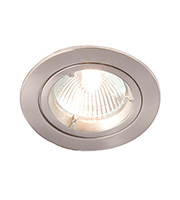 Robus GU/GZ10 Die Cast Downlight Straight (Brushed Chrome)