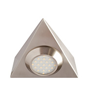 Robus Triangular Mains Voltage LED Cabinet Light (Brushed Chrome)