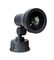 Robus GU10 50W Wall Mounted Light with Adjustable Tapered Head (Black)