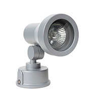 Robus GU10 50W Wall Mounted with Adjustable Tapered Head (Satin Silver)
