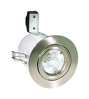 Robus Directional Die Cast Fire Rated Downlight (Brushed Chrome)