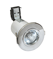 Robus Cast Fire Rated GU10 Downlight (Polished Chrome)