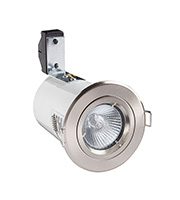 Robus Cast GU10 Fire Rated Downlight (Brushed Chrome)