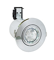 Robus Cast Fire Rated GU10 Tilt Downlight (Polished Chrome)