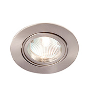 Robus Mains Voltage Die Cast Fire Rated Downlight (Brushed Chrome)