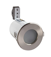 Robus GU/GZ10 Fire Rated Shower Downlight (Brushed Chrome)