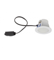 Robus TAYLOR 7W Led CCT3 Selectable Downlight, IP44, 72mm, White, 3000K, 4000K, 6500K, Dimmable (White)