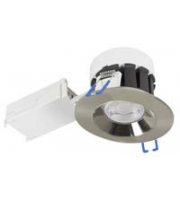 Robus Cavan Tilt 6.5W Cob Led CCT3 Dimmable Downlight, IP20, 94mm, Brushed Chrome, 3K,4K,6K (Brushed Chrome) )