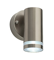 Saxby Lighting Aura IP44 1W Wall Light (Brushed Stainless)