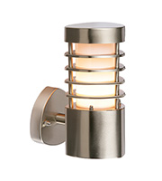 Saxby Lighting Bliss IP44 11W Wall Light (Brushed Stainless)