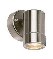 Saxby Lighting Palin IP44 35W Wall Light (Brushed Stainless)