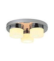 Saxby Lighting Pure Triple IP44 28W Bathroom Ceiling Light (Chrome)