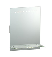 Saxby Lighting Omega IP44 1.05W Mirror Light (Matt Silver)