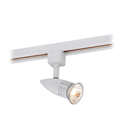 Saxby Lighting Conor 50W GU10 Mains Track Spotlight (Gloss White)