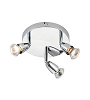 Saxby Lighting Amalfi Triple 50W Halogen Spotlight (Chrome)