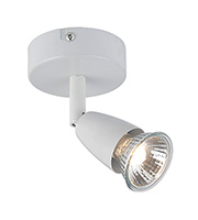 Saxby Lighting Amalfi Single 50W Halogen Spotlight (Gloss White)
