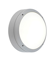 Endon Lighting Napier Plain IP54 20W Round Bulkhead (Silver)