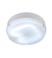Saxby Lighting Pluto Large Round HF & Emergency IP65 28W Light (White)