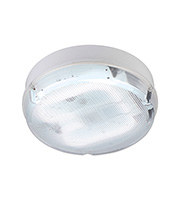 Saxby Lighting Pluto Large Round Emergency IP65 28W Bulkhead (White)