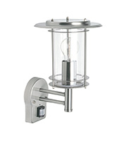 Saxby Lighting York PIR Wall Light IP44 60W (Polished Stainless)