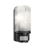 Saxby Lighting Motion IP44 60W PIR Bulkhead (Black)