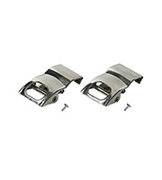 Saxby Lighting T8 Anti Corrosive Clip Accessory Twin Pack (Polished Stainless)