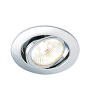 Saxby Lighting Cast tilt 50W Halogen Downlight (Chrome)