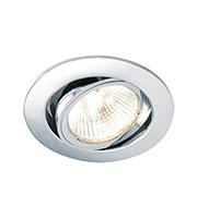 Saxby Lighting Cast tilt Downlight (Chrome)