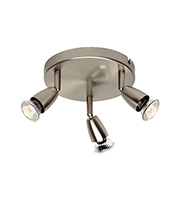 Saxby Lighting Amalfi Triple 50W Spotlight (Satin Nickel)