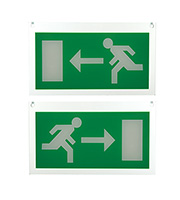 Endon Lighting Luxway Exit Left & Right Sign Accessory (Green)