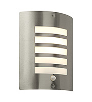 Saxby Lighting Bianco PIR IP44 Wall Light (Brushed Stainless)