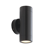 Saxby Lighting Odyssey IP44 35W Twin Wall Light (Satin Black)