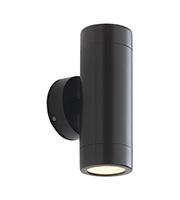 Saxby Lighting Odyssey IP44 35W Twin Wall Light (Satin Black)