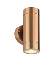 Saxby Lighting Odyssey IP44 35W Twin Wall Light (Copper Plate)
