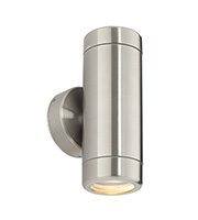 Saxby Lighting Odyssey IP65 35W Twin Wall Light (Brushed Stainless)