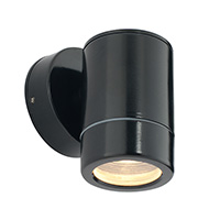 Saxby Lighting Odyssey IP44 35W Wall Light (Satin Black)