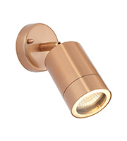 Saxby Lighting Odyssey IP44 35W Wall Light (Copper Plate)