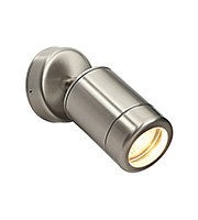 Saxby Lighting Odyssey Spot IP65 35W Wall Light (Brushed Stainless)