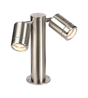 Saxby Lighting Odyssey Twin Post IP65 35W (Brushed Stainless)