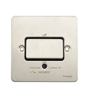Schneider Electric GET Ultimate Flat Plate Fan Isolator Switch (Stainless Steel)