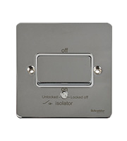 Schneider Electric GET Ultimate Flat Plate Fan Isolator Switch (Polished Chrome)