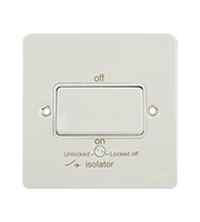 Schneider Electric GET Ultimate Flat Plate Fan Isolator Switch (White Metal)