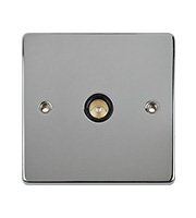 Schneider Electric Ultimate Flat Plate 1G COAX Socket (Polished Chrome)