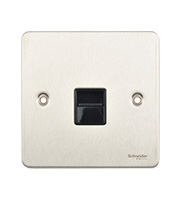 Schneider Electric GET Ultimate Flat Plate Single Telephone Master Socket (Stainless Steel)
