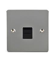 Schneider Electric Flat Plate Telephone Secondary Socket (Polished Chrome)