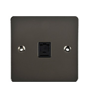 Schneider Electric GET Ultimate Flat Plate Single RJ45 Data Socket (Black Nickel)