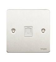 Schneider Electric GET Ultimate Flat Plate Single RJ45 Data Socket (Stainless Steel)